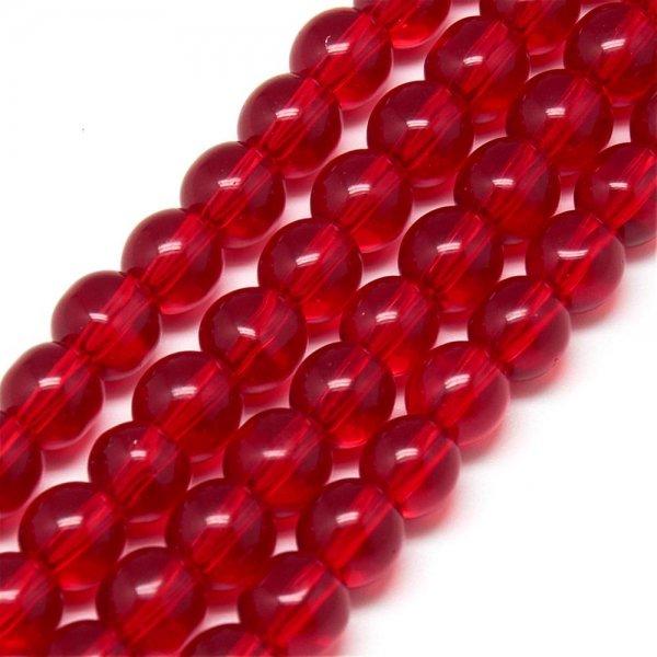 ガラス丸玉/4mm/Red/40個入/アクセサリーパーツ/ビーズ