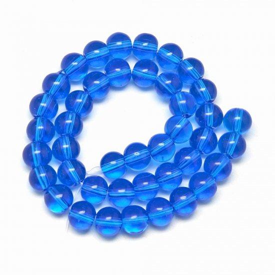 ガラス丸玉/4mm/Blue/40個入/アクセサリーパーツ/ビーズ