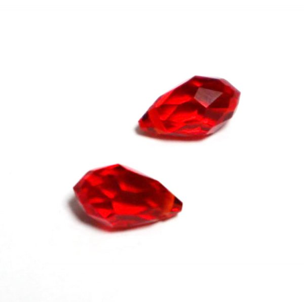 ガラスドロップ/13×8mm/Red/2個入/アクセサリーパーツ/ビーズ