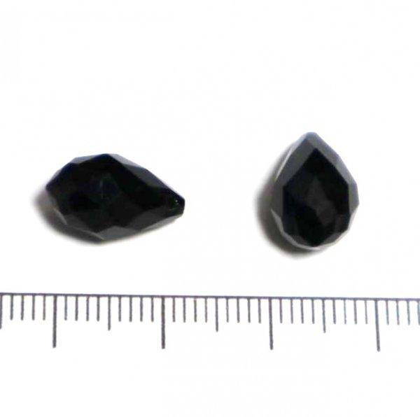 ガラスドロップ/13×8mm/Black/2個入/アクセサリーパーツ/ビーズ