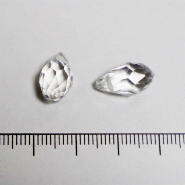 ガラスドロップ/13×8mm/Clear/2個入/アクセサリーパーツ/ビーズ