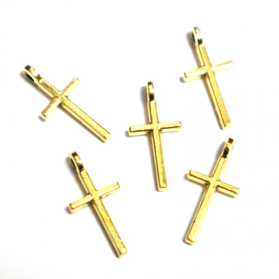 十字架/38/ゴールド/5個入/アクセサリーパーツ/チャーム
