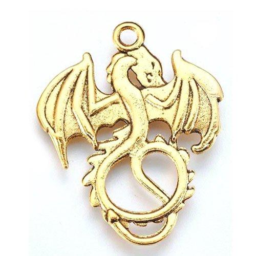 ドラゴン/01/ゴールド/1個入/アクセサリーパーツ/チャーム