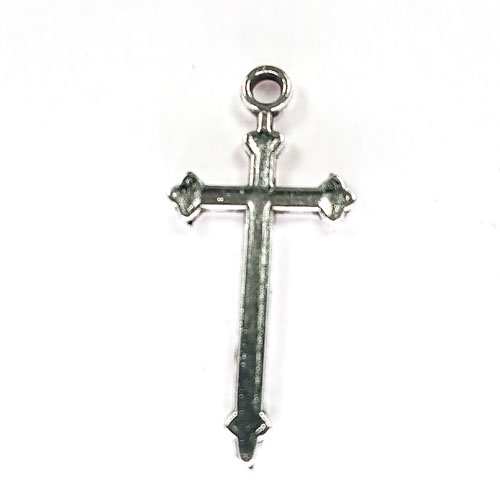 十字架/11/アンティークシルバー/4個入/アクセサリーパーツ/チャーム