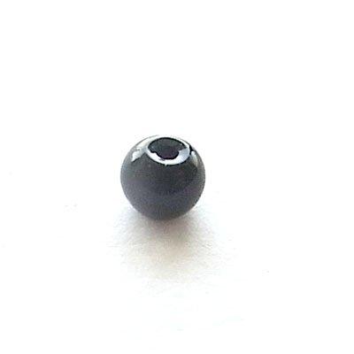 ガラス丸玉/4mm/Black/40個入/アクセサリーパーツ/ビーズ