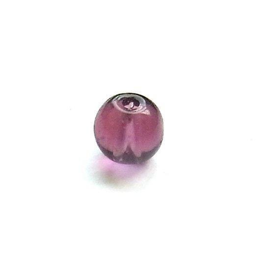ガラス丸玉/4mm/DarkPurple/40個入/アクセサリーパーツ/ビーズ