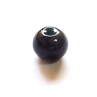 ガラス丸玉/6mm/Black/25個入/アクセサリーパーツ/ビーズ