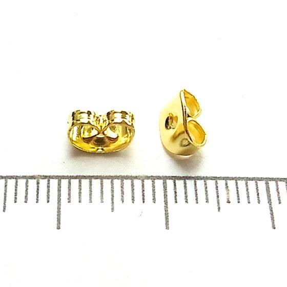 ピアスキャッチ/02/ゴールド/30個入/アクセサリーパーツ/基礎金具