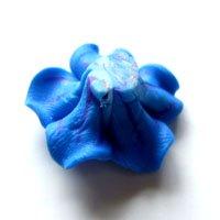 クレイ/花01/Blue/2個入/アクセサリーパーツ/チャーム