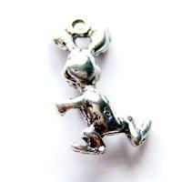 ウサギ/05/アンティークシルバー/5個入/アクセサリーパーツ/チャーム