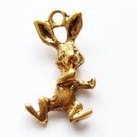 ウサギ/05/ゴールド/5個入/アクセサリーパーツ/チャーム