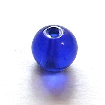 ガラス丸玉/6mm/Navy/25個入/アクセサリーパーツ/ビーズ