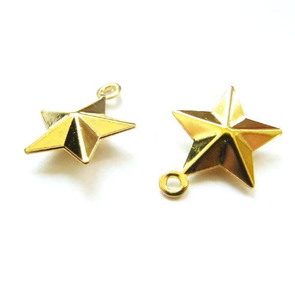 星/10/ゴールド/5個入/アクセサリーパーツ/チャーム