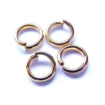 丸カン/0.7×5mm/ゴールド/10g/アクセサリーパーツ/基礎金具