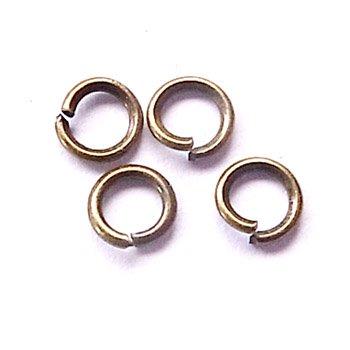 丸カン/0.7×4mm/アンティークゴールド/10g/アクセサリーパーツ/基礎金具