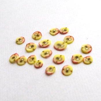 クレイ/スライス/りんご01/20個入/アクセサリーパーツ/チャーム