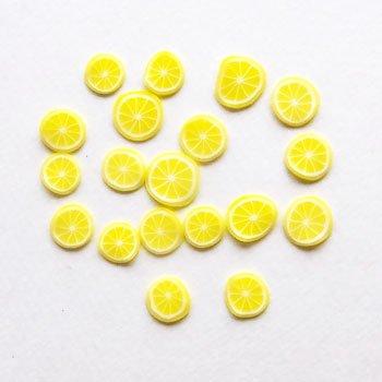 クレイ/スライス/レモン01/20個入/アクセサリーパーツ/チャーム
