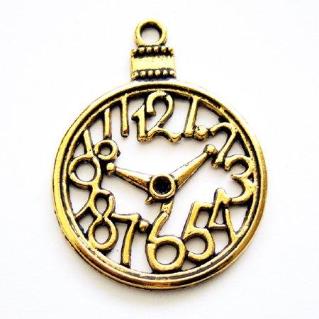 時計(大)/05/ゴールド/1個入/アクセサリーパーツ/チャーム