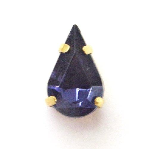 ビジュードロップ/13×8(G)/IndigoBlue/4個入/アクセサリーパーツ/チャーム