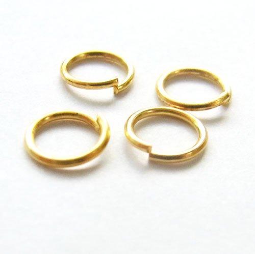 丸カン/0.7×6mm/ゴールド/10g/アクセサリーパーツ/基礎金具