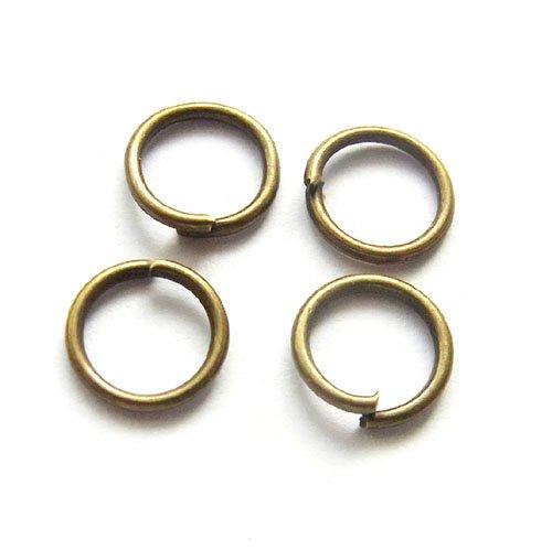 丸カン/0.7×6mm/アンティークゴールド/10g/アクセサリーパーツ/基礎金具