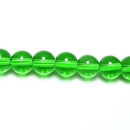 ガラス丸玉/6mm/Lime/25個入/アクセサリーパーツ/ビーズ
