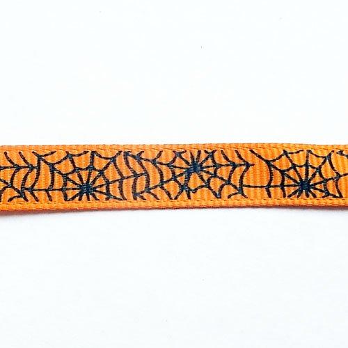 リボン切売/9mm幅/蜘蛛の巣/Orange/1m