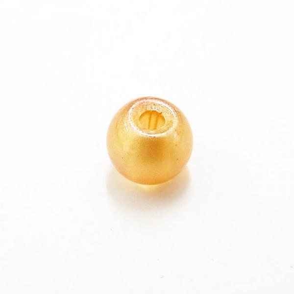 ガラス丸玉/6mm/パステルOrange/40個入/アクセサリーパーツ/ビーズ