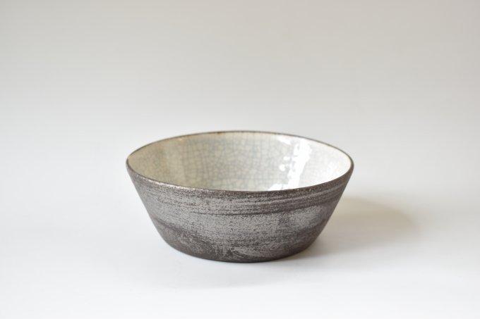白×黒 銅鑼鉢