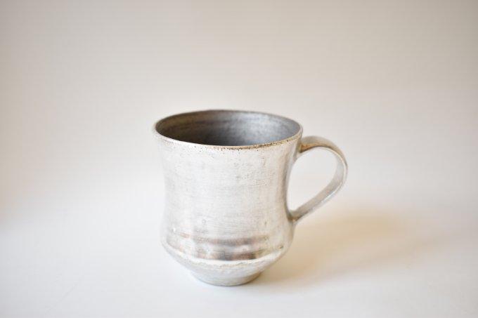 シルバー×黒 マグカップ