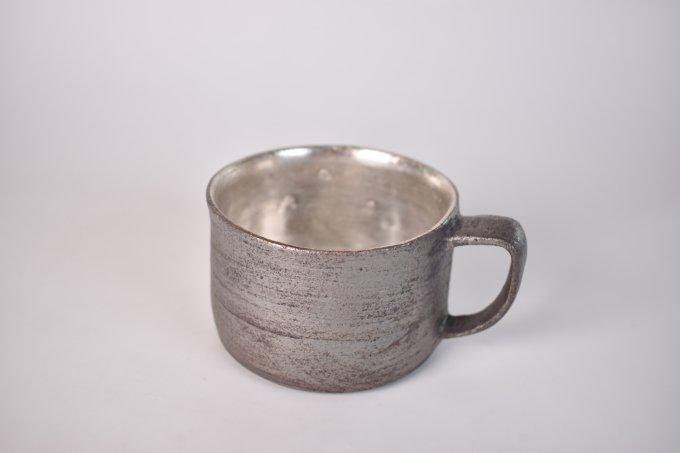 黒×シルバー マグカップ