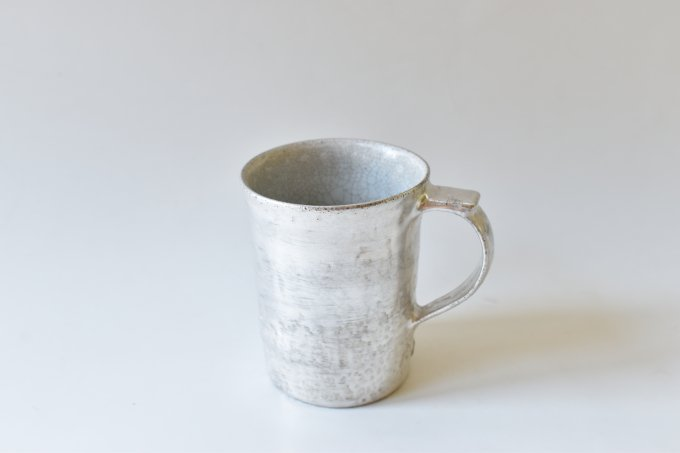 ビードロ×シルバー マグカップ