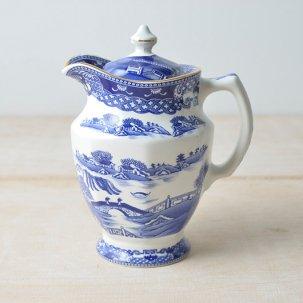 ヴィンテージ 八角形のティーポット <br>【Ringtons】×【Wade Ceramics】 ブルーウィロー柄