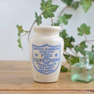 ビンテージ陶器ボトル<br>CARRICKS CUMBERLAND PURE THICK CREAM