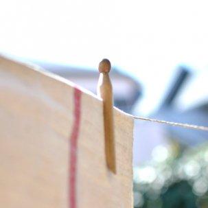 アンティーク 木製ペグ(洗濯ばさみ)6本セット