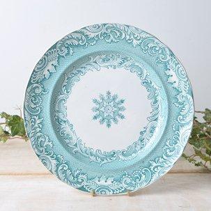 ビンテージディナープレート26cm<br>GRECIAN BORDER グリーンの美しいお皿