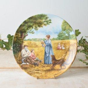 ビンテージ 絵皿<br>ウエッジウッド Harvest Supper 20.5cm