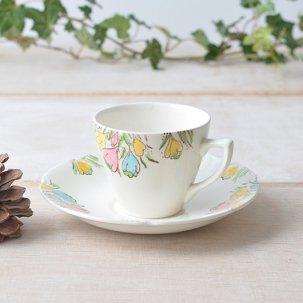 Broadhurst ブロードハースト /クロッカスのお花がかわいい<br>ビンテージデミタスカップ&ソーサー