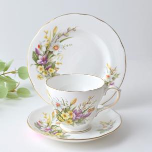 ビンテージトリオ<br> 綺麗な花束/DUCHESSのSpring<br>ボーンチャイナ