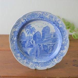ヴィンテージ スポードブルールームコレクション 飾り皿<br> SPODE BLUE ROOM COLLECTION  CARAMANIAN c1809