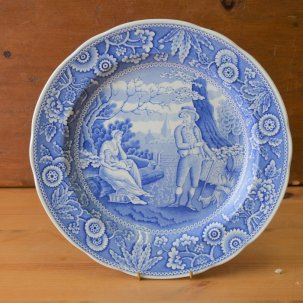 ヴィンテージ スポード  ブルールームコレクション 飾り皿<br> SPODE  BLUE  ROOM COLLECTION  WOODMAN (森の住人)c1816