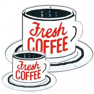 THE OLDE FARMHOUSE  エナメルサインプレート<br>Fresh COFFEE  2サイズ