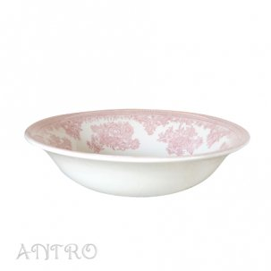 Burleigh pink AsiaticPheasants<br>ピンクアジアティックフェザンツ<br>スープボウル