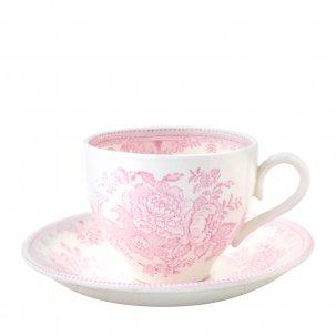 Burleigh Pink Asiatic Pheasant<br>ピンクアジアティックフェザンツ<br>カップ&ソーサー
