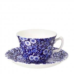 Burleigh Blue Calicoブルーキャリコ<br>カップ&ソーサー