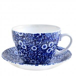 Burleigh Blue Calicoブルーキャリコ<br>ブレックファースト カップソーサー