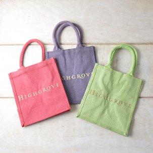【HIGHGROVE】ジュート(麻)ショッピングバッグ<br>スモールサイズ各色