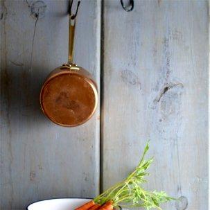 ビンテージ <br>銅製の片手鍋 COPPER PAN