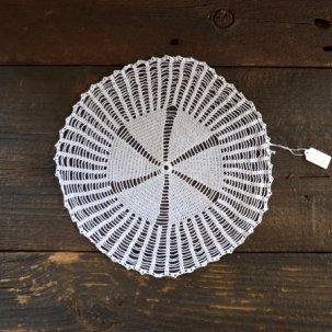 アンティーク レースドイリー 円形24cm