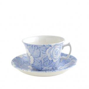 Burleigh Victorian Chintz ブルービクトリアンチンツ<br>カップ&ソーサー